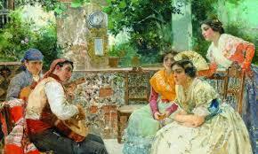 Resultado de imagen de oleo costumbrista andaluz siglo xix