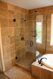 small bathroom set up walk in shower