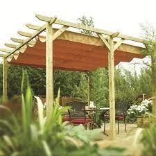 garden canopy wooden metal canopies