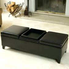 exotic ottoman coffee table with storage simpli home avalon coffee table storage ottoman with 4 serving trays