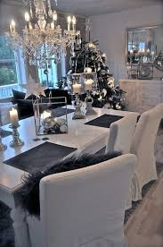 Love it !! black white grey christmas and dining room - http://