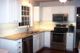 brown subway tile image of glass kitchen cabinets with white backsplash e1 brown