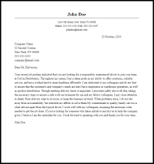 Professional Driver Cover Letter Sample Writing Guide Within Sample