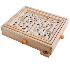 Wooden Maze Game With Ball Bearing Amazing Labyrinth Wooden Maze Game With Two Steel MarblesPuzzle Game For