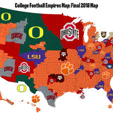 Final 2018 College Football Empires Map Bow To Clemson