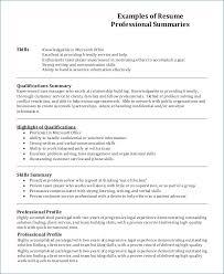 Resume Profile Examples Kantosanpo Com