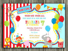 Free Circus Birthday Invitations Printables Staggering Carnival