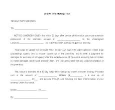 Free Printable 30 Day Eviction Notice Template Notify Tenant Of Sale Of Property Letter
