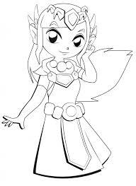 Zelda 2 Coloriage Zelda Coloriages Pour Enfants Coloriage Princesse Zelda L