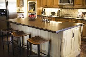 Interesting Kitchen island countertop with granite countertops