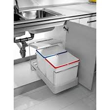 Charming 2 Fach Küchen Einbau Abfalleimer Electa1, 2x 16 Liter, Mülleimer,  Abfallsammler,