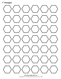 Blank Hexagon Templates | Printable Hexagon Shape PDFs & Blank Hexagon Template Adamdwight.com
