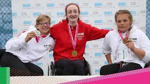 Fran Smith claims two gold medals in wheelchair tennis - YouTube