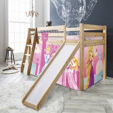 bunk bed with slide and tent. Cabin Bed Thor Midsleeper With Slide \u0026 Disney Princess Tent, Tower Tunnel Bunk And Tent