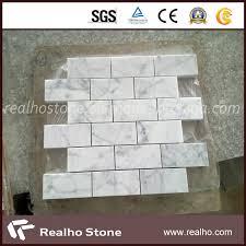 china cararra white marble mosaic