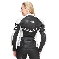 sweep pinky las leather jacket black white motorbike equipment from web sweepfashion great s helmets etc