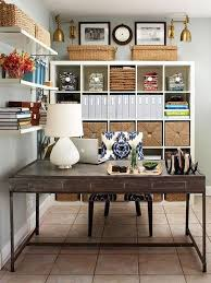 delectable design ideas of cute home office with rectangle shape brown wooden table and white table lamp also combine with white blue colors damask pattern awesome home office ideas ikea 3