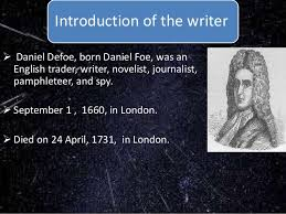 robinson crusoe essays home rsaquo robinson crusoe essays acircmiddot daniel defoe was an english writer journalist and spy who gained enduring fame for his novel