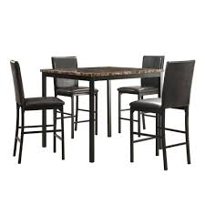 Image Ellwood Black Homesullivan Bedford 5piece Black Bar Table Set402601365pc The Home Depot Home Depot Homesullivan Bedford 5piece Black Bar Table Set402601365pc The