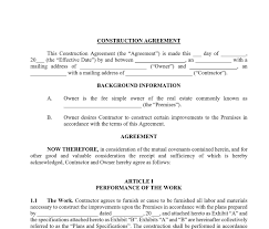 An independent contractor agreement allows the hiring company and the contractor to detail what is expected and why the contractor is not an employee for legal and tax purposes. Construction Contract Template Approveme Free Contract Templates