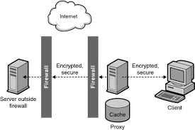 chapter  using a reverse proxy  sun java system web proxy server    diagram showing a secure client connection to proxy and a secure proxy connection to content server