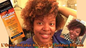 dye natural hair blonde without bleach l oreal hicolor hilights in golden blonde you