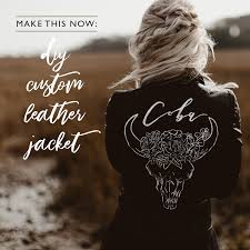 custom leather jean jackets are the latest craze we love that you can work with artists to create these gorgeous one of a kind jackets but we also know