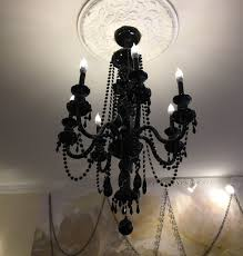 lee s valise 7 arm black crystal chandelier regarding plan 14