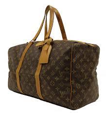 louis vuitton overnight bag. louis vuitton classic monogram canvas keepall 55 weekender overnight bag. bag