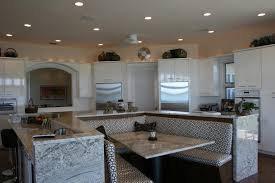 black kitchen cabinets with white marble countertops. Kitchen Metal And White Hanging Lamps Dark Wood Ceiling Combination Grey Wall Painting With Black Cabinets Marble Countertops O