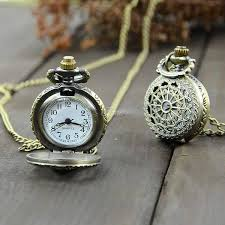quartz pocket watch antique vintage bronze tone pocket chain quartz pendant watch necklace