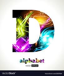 The Letter D Design Design Abstract Letter D