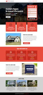 Page Design Templates Best Home Insurance Service Template Buy Landing Pages Design