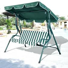 3 person swings with canopy outdoor swing chair patio cover black polished wrought iron based and