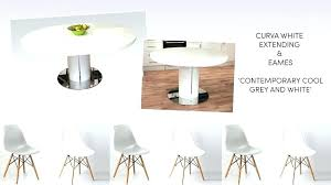 white round extending dining table white extending dining table and chairs round white gloss extending dining