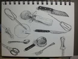 Kitchen Utensils Drawing Kitchen Utensils Drawing Nongzico