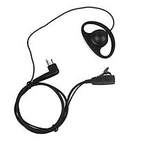 motorola earpiece. d shape earpiece headset ptt for motorola two way radio walkie talkie 2pin