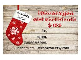 Gift Certificate Sign Idecor4you Last Minute Gift Certificate For Custom Wood Sign