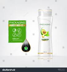 Shampoo Design Packaging Products Hair Care Design Shampoo Stock Vector