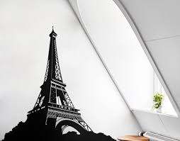 geometric eiffel tower your decal nz designer wall art