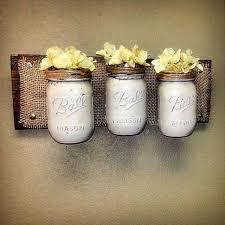 mason jar wall decor diy