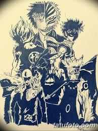 черный эскиз анимэ 09032019 014 Anime Tattoo Black Sketch