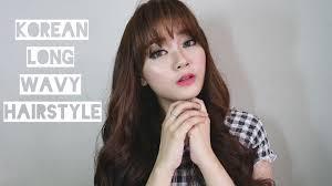 Long Wavy Hair Hairstyles Korean Curly Hairstyles For Long Hair Korean Long Wavy Hair Style