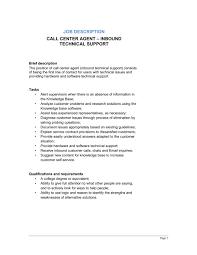 Call Center Agent Inbound_technical Support Job Description