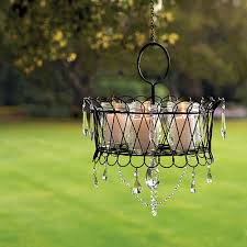 innovative wire basket chandelier with start with a wire basket add some baubles and candles and youve