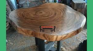 round coffee table live edge iron legs