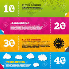 Flyer Brochure Designs Sale Discount Icons Special Offer Price