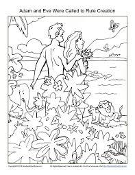 Adam And Eve Were Called To Rule Creation Coloring Page Free