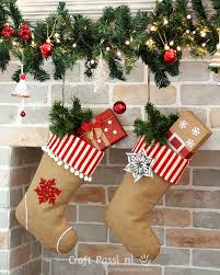 be it a plain burlap stocking or you can decorate it some embellishment to spice it up