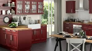 Meuble De Cuisine En Bois Rouge Youtube